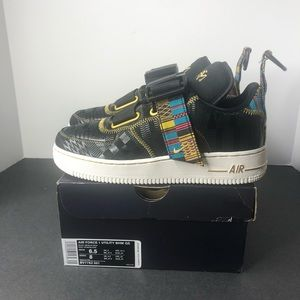 Nike Air Force 1 Utility BHM Black History Shoes